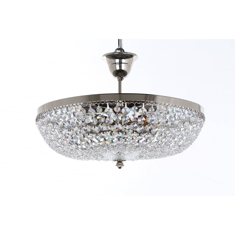 impex lighting essen five light semi flush crystal ceiling light
