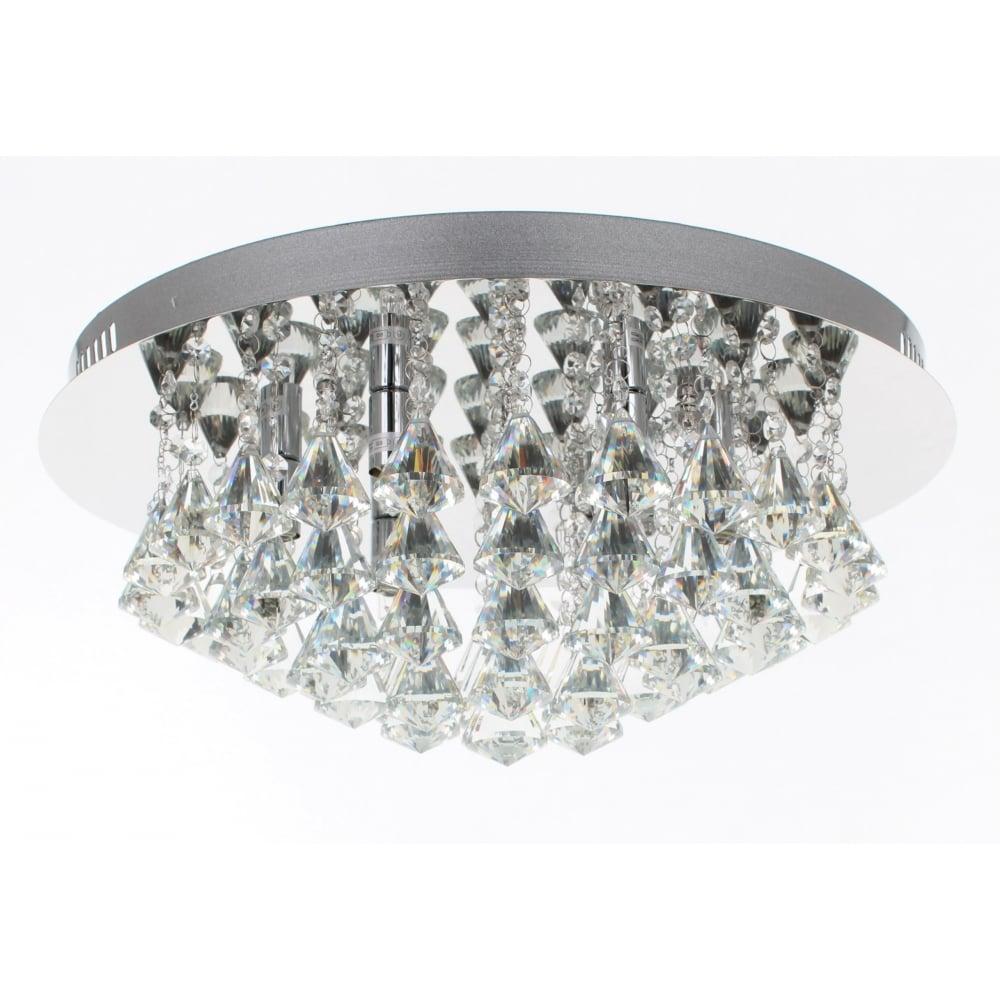 impex lighting parma 6 light crystal flush light cfh011025 06 ch