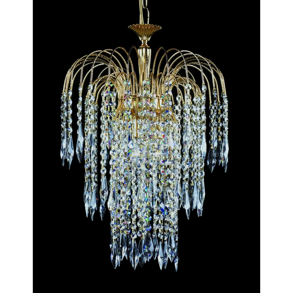 Shower 40 Cm Crystal Waterfall Chandelier St01900 03