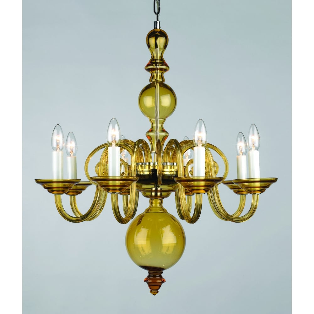 Impex lighting stara crystal bohemian 8 lt amber glass chandelier stara crystal bohemian 8 lt amber glass chandelier cb0551908amb aloadofball Images