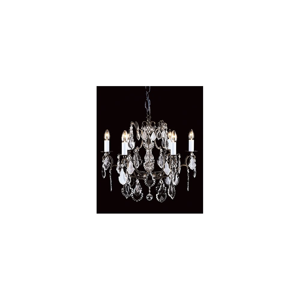 Impex lighting straz crystal bohemian antique bronze chandelier straz crystal bohemian antique bronze chandelier cb0040006ab arubaitofo Images