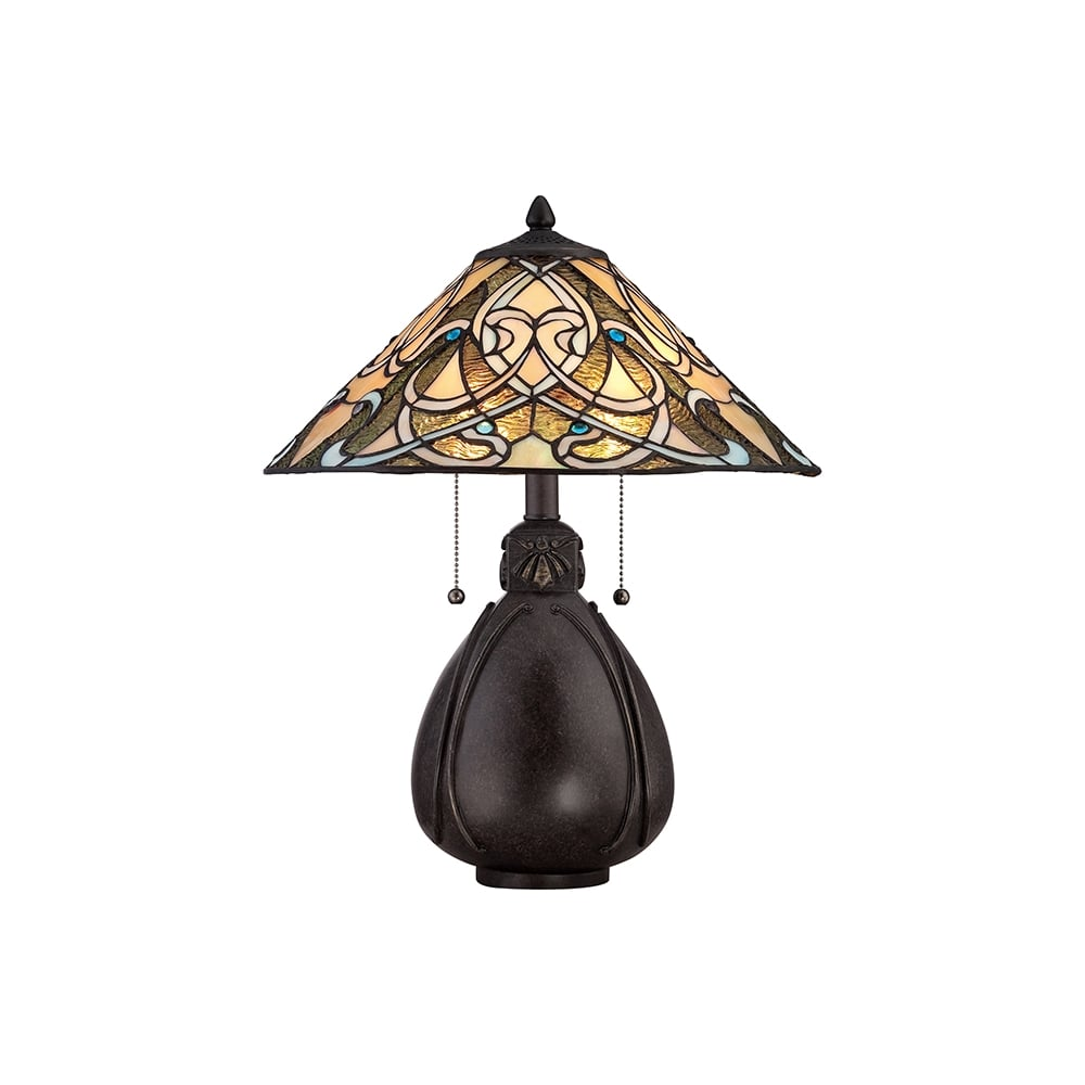 Quoizel India Tiffany Table Lamp In Imperial Bronze Finish Qz Tl Lighting From The Home Centre Uk