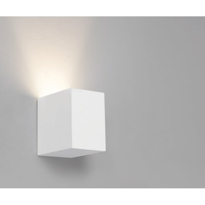 Astro Lighting Indoor Wall Light In White Plaster Finish PARMA 7606