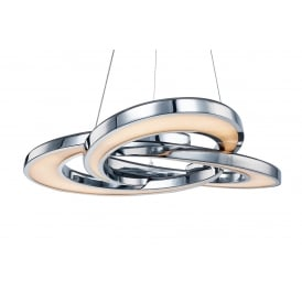 Infinity Modern Ceiling Pendant Light In Polished Chrome Finish MD14002029-4A