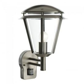 Inova PIR Exterior Wall Light In Brushed Stainless Steel Finish IP44 49945