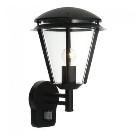 Inova PIR Exterior Wall Light In Matt Black Paint Finish IP44 49946