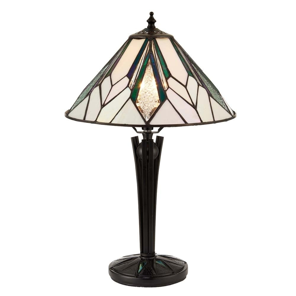 Interiors 1900 Astoria Tiffany Small Table Lamp In Art Deco Style