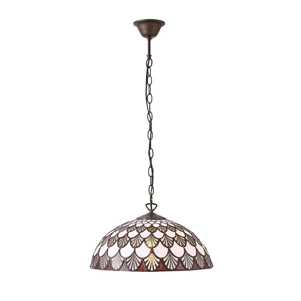 Missori Tiffany Medium Ceiling Pendant With Scalloped Shaped Glass 70375