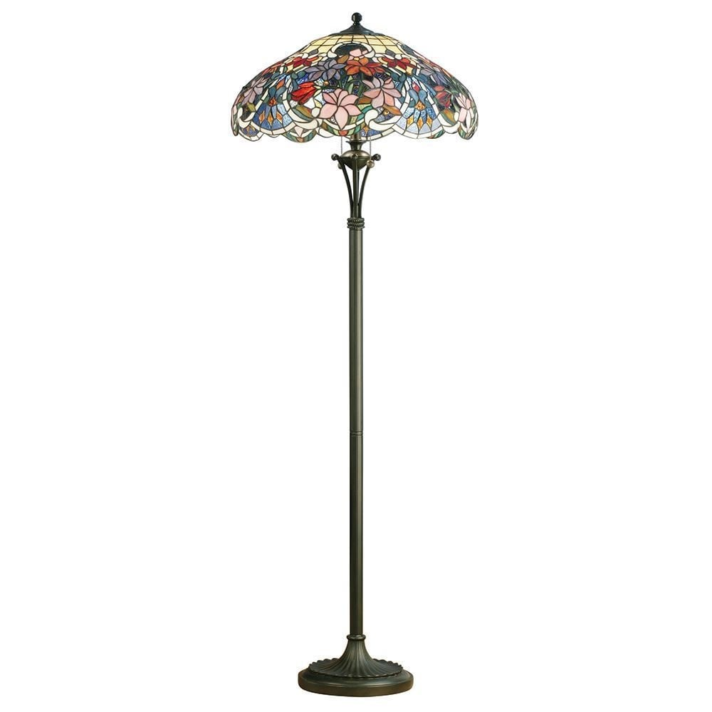 Interiors 1900 sullivan tiffany floor lamp with richly coloured sullivan tiffany floor lamp with richly coloured floral design 64323 aloadofball Images