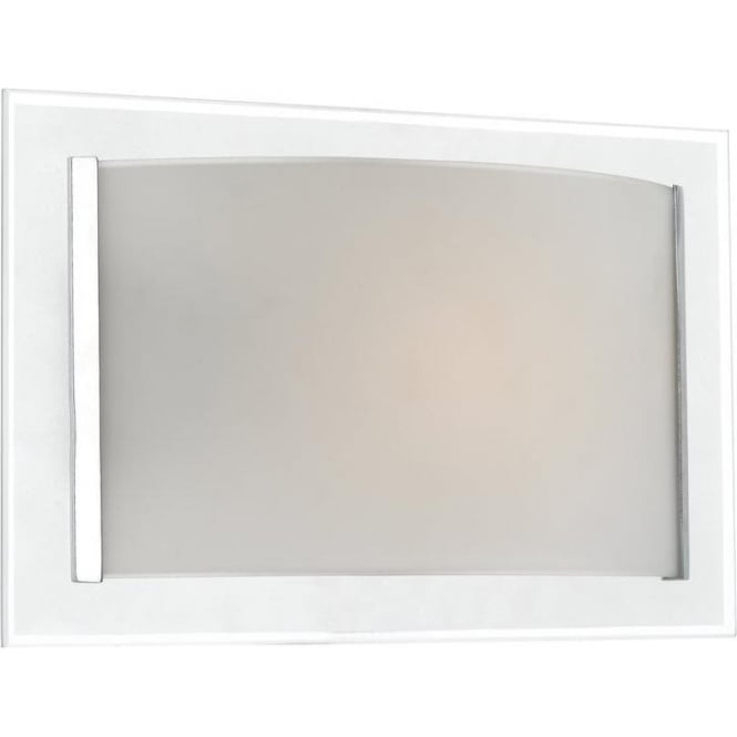 Dar Lighting INV0750 Inverse Contemporary 1 Light Opal & Frosted Glass Wall Light
