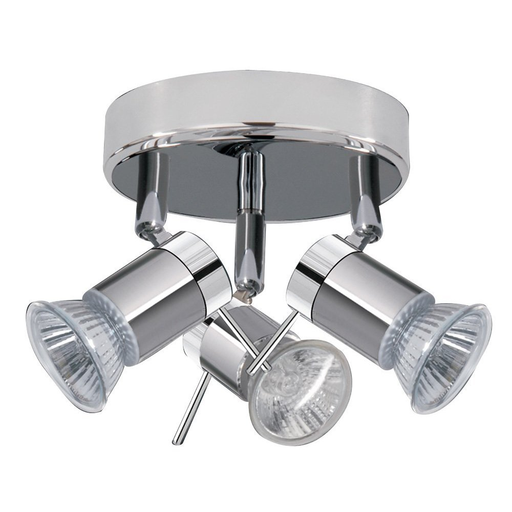 modern chrome flush bathroom ceiling spot light spotlight lights zone