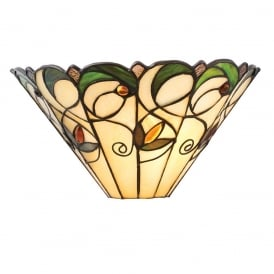 Jamelia Classic Tiffany Wall Light With Amber Glass Beads 64198