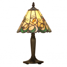 Jamelia Tiffany Intermediate Table Lamp With Amber Glass Beads 64196