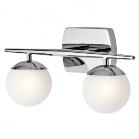 Jasper LED Twin Bathroom Wall Light In Polished Chrome Finish KL/JASPER2 BATH