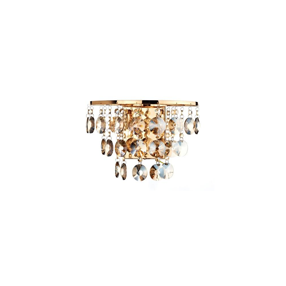 JES0940 Jester 2 Light Gold Wall Light with Amber Droppers - Lighting from The Home Lighting ...