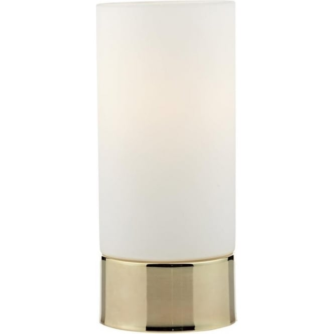 Dar Lighting JOT Gold Finish and Opal Glass Touch Table Lamp JOT4035
