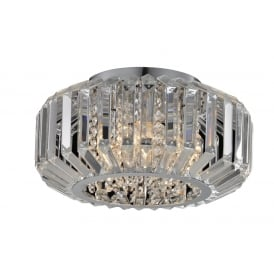Juliet Decorative Crystal 4 Light Flush Ceiling Light In Chrome Finish CFH606081/04/PL/CH