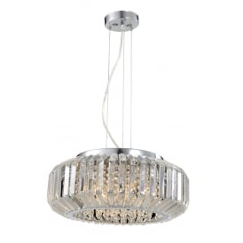 Juliet Decorative Crystal 6 Light Ceiling Pendant In Chrome CFH606081/06/CH