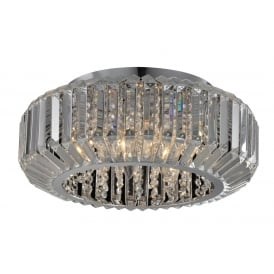 Juliet Decorative Crystal 6 Light Flush Ceiling Light In Chrome Finish CFH606081/06/PL/CH
