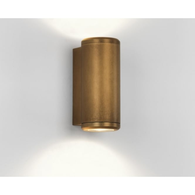 Astro Lighting Jura Outdoor Up And Down Wall Light In Antique Brass Finish IP44 7809