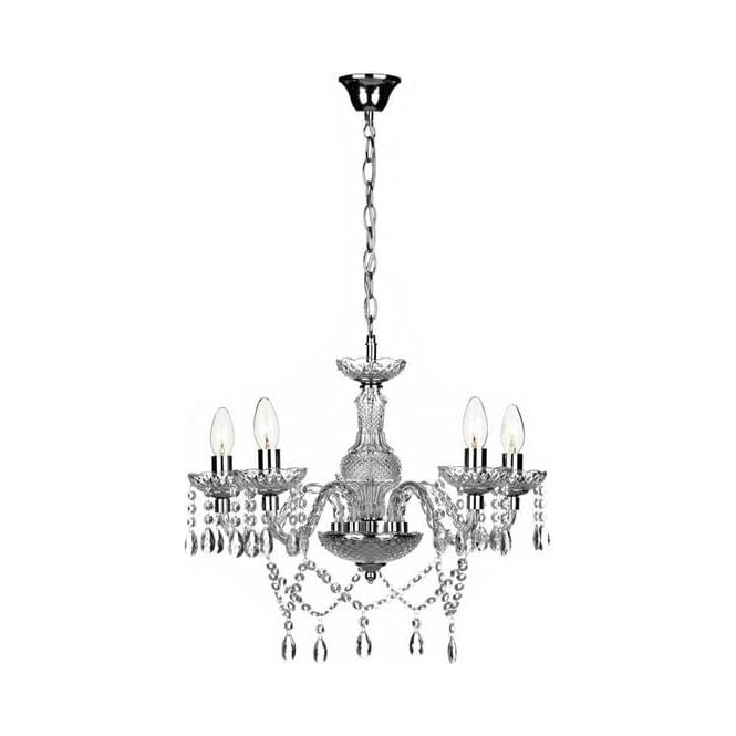 Dar Lighting KAT0550 Katie 5 Light Traditional Chandelier