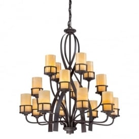 Kyle 16 Light Chandelier in Imperial Bronze Finish QZ/KYLE16