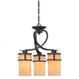 Kyle 3 Light Chandelier in Imperial Bronze Finish QZ/KYLE3