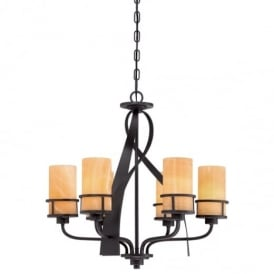 Kyle 6 Light Chandelier in Imperial Bronze Finish QZ/KYLE6