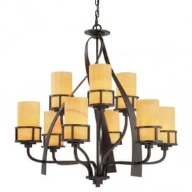 Kyle 9 Light Chandelier in Imperial Bronze Finish QZ/KYLE9