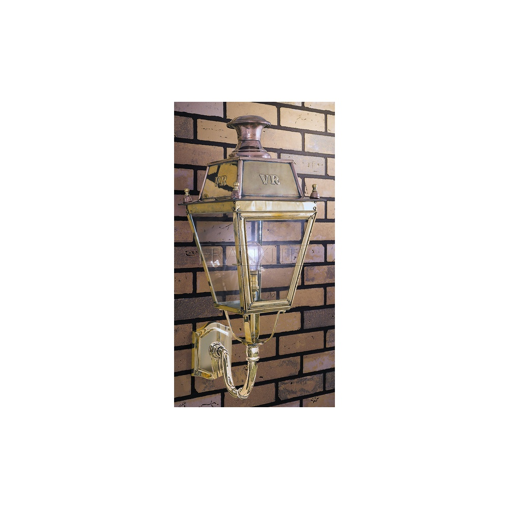 Franklite Lighting LAB11644 Great Western Exterior Wall Lantern, Polished Brass - Lighting from ...