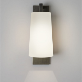 Lago 280 Bronze Wall Light with Opal Glass Shade 7086 + 4079
