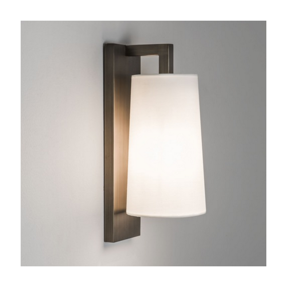 Astro Lighting Lago 280 Bronze Wall Light with White Shade 7086 + 4076 - Lighting from The Home ...