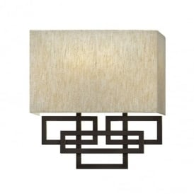 Lanza 2 Light Bronze Wall Light with Shade HK/LANZA2