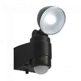 Laryn PIR Black Plastic Security Light IP44 54408
