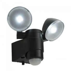 Laryn PIR Black Plastic Security Light IP44 54409