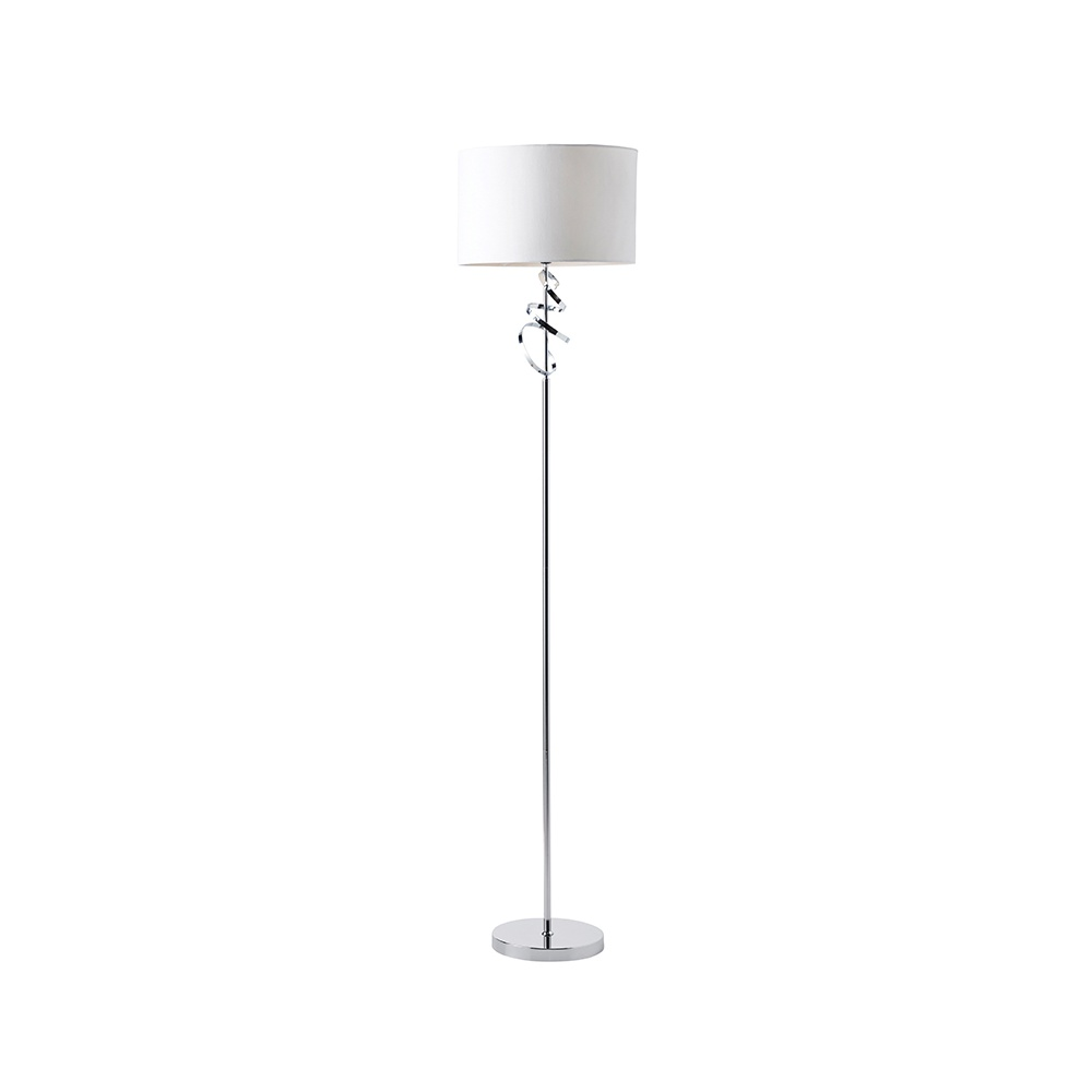 Modern Floor Lamp Uk: Latimer Modern Floor Lamp In Chrome Finish LATIMER-FLCH