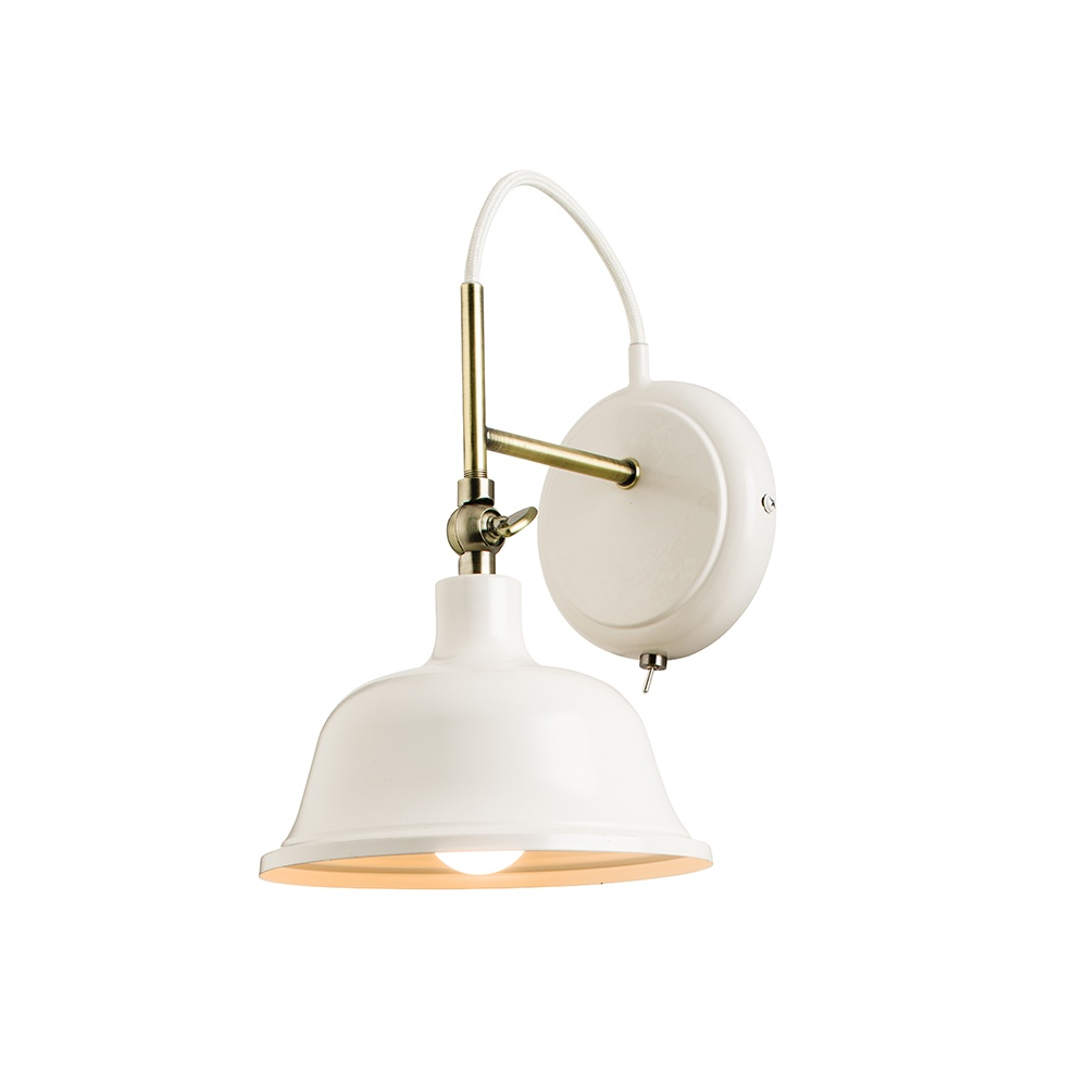 Endon Laughton Vintage Wall Light in Country Cream Finish 60842 - Lighting from The Home ...