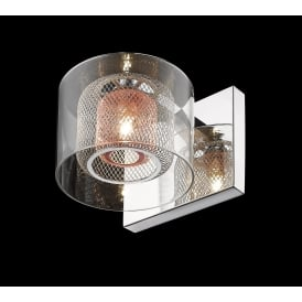 Laure Single Wall Light In Chrome And Copper Finish PGH606101/01/WB/CH