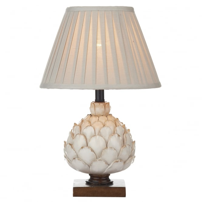 Dar Lighting Layer Small Artichoke Table Lamp With Pleated Shade LAY4133/X