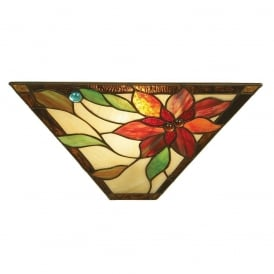 Lelani Tiffany Wall Light With Floral Design 64231