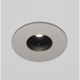 Lenta Fixed Downlight in Painted Silver Finish 5713