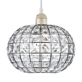 Letitia Chrome / Glass Non electric Lampshade LET6550