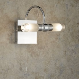 Lima Bathroom LED Wall Light With Mirrored Glass Plate 2555CC-LED