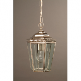 Windsor Nickel 6 Sided Hanging Lantern