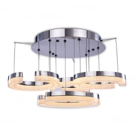 Link Unique LED Semi Flush Ceiling Light In Chrome Finish MX15006001-4A