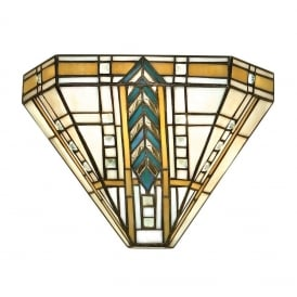 Lloyd Tiffany Single Wall Light With Bevelled Glass Beading 64243