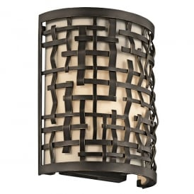 Loom Art Deco Wall Light in Olde Bronze Finish KL/LOOM1