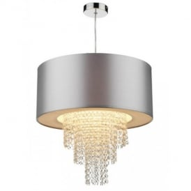 LOP6532 Lopez Silver And Crystal Non-Electric Pendant