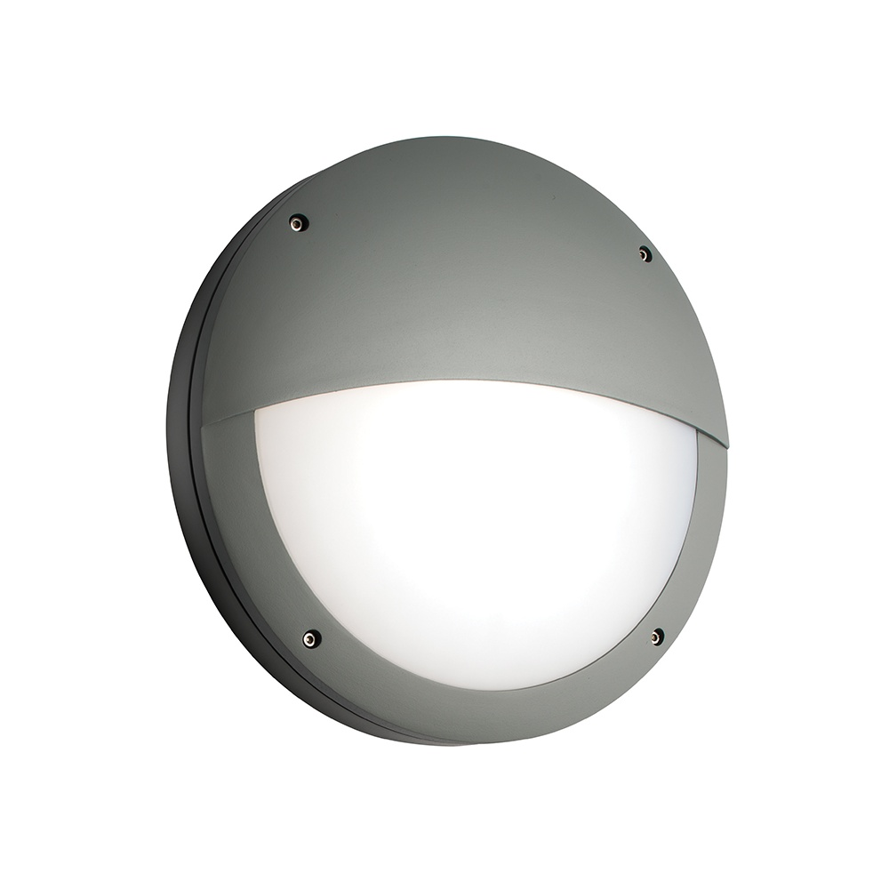 Exterior Wall Lights Ip65 : Endon Luik Eyelid Round Exterior Wall Light in Grey Finish IP65 61754 - Lighting from The Home ...