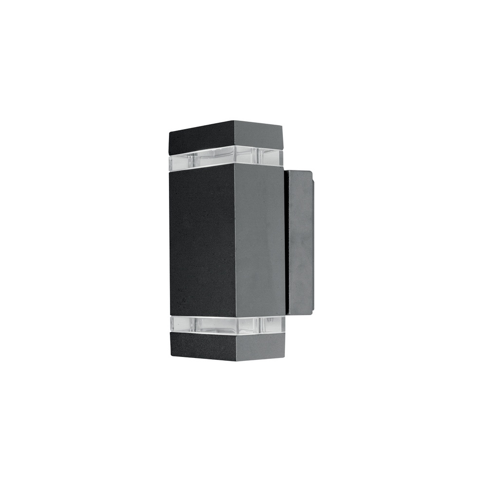 Lutec lighting ut focus led6050 exterior led graphite up for Exterior up down wall light